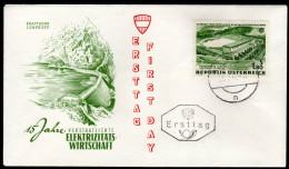 ÖSTERREICH 1962 - Kraftwerk Lünersee / 15 Jahre Elektrizitätswirtschaft - FDC - Fabriken Und Industrien