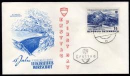 ÖSTERREICH 1962 - Kaprun Moserboden / 15 Jahre Elektrizitätswirtschaft - FDC - Fabriken Und Industrien