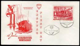 ÖSTERREICH 1962 - Umspannwerk Bisamberg / 15 Jahre Elektrizitätswirtschaft - FDC - Fabriken Und Industrien