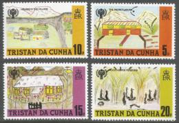 Tristan Da Cunha. 1979 International Year Of The Child. Childrens Paintings. MH Complete Set. SG 268-271 - Tristan Da Cunha