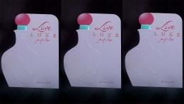 3 X Singapore Perfume Cards Cartes Parfumees --   LIVE LUXE JENNIFER LOPEZ - Perfume Cards