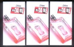 3 X Singapore Perfume Cards Cartes Parfumees --   JPG JEAN PAUL GAULTIER MADAME - Perfume Cards