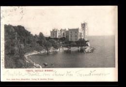 ITALIE Trieste, Castello Miramar, Chateau, Ed Strehler, 1902 - Trieste