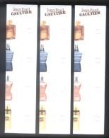 3 X Singapore Perfume Cards Cartes Parfumees --   JPG JEAN PAUL GAULTIER - Cartas Perfumadas