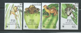 Fiji 1988 WWF Frog Set 4 FU - Fiji (1970-...)