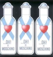 3 X Singapore Perfume Cards Cartes Parfumees --   ..... OH ! DE MOSCHINO - Perfume Cards