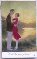 CP Photo Litho Colorisé  Illustrateur RENE PEAN Edition A.N. N° 2 Couple Enlacé C´est Toi Que J Aime - Couples