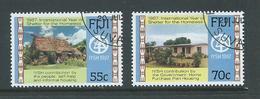 Fiji 1987 Homeless Shelter Set 2 FU - Fiji (1970-...)