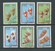 Fiji 1987 Cone Shells Set 6 FU - Fiji (1970-...)