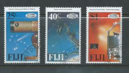 Fiji 1986 Halleys Comet Satellite Set 3 FU - Fiji (1970-...)