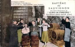 """18 - Fontenay-Saint-Satur - Baptême Au Sauvignon Aux Caves Souterraines Du """"Clos-la-Perrière"""", Archambault Père Et Fils - Sonstige Gemeinden"""