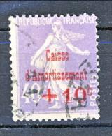Francia 1928 Caisse D'Am. Y&T N. 249 C. 10 Su C. 40 Violetto Grigio Usato - Sinking Fund