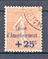 Francia 1928 Caisse D'Am. Y&T N. 250 C. 25 Su C. 50 Rosso Bruno Usato - Sinking Fund
