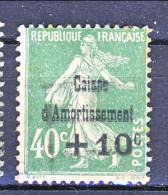 Francia 1929 Caisse D'Am. Y&T N. 253 C. 10 Su Fc. 40 Verde Usato - Sinking Fund