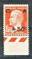 """""""Francia 1929 Caisse D'Am. Y&T N. 255 C. 50 Su Fr. 1,50 Rosso Brunastro MNH Bordo Di Foglio (Biondi) - Sinking Fund"""