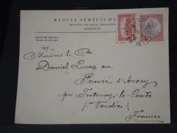 HONGRIE - LETTRE DE BUDAPEST (  MUSEE NATIONAL HONGROIS)  POUR LA FRANCE 1925    LOT P3323