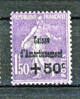 """""""Francia 1929 Caisse D'Am. Y&T N. 268 C. 50 Su Fr. 1,50 Violetto MNH (Biondi) - Sinking Fund"""