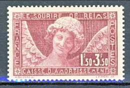 Francia 1930 Caisse D'Am. Ange Au Sourire De Reims Y&T N. 256 Fr 1,50 Su Fr. 3,50 Lilla MNH - Sinking Fund