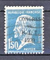 Francia 1930 Caisse D'Am. Y&T N. 265 Fr. 1,50 Azzurro Usato - Sinking Fund