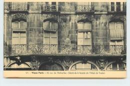 VIEUX PARIS - 52 Rue De L'arbre-sec, Détail De La Façade De L'hôtel De Trudon. - Arrondissement: 01