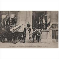 MITP0522CPA-LFTD3247TPOEV.Tarjeta Postal. Recepcion Francesa.1905.VISITA DEL REY ALFONSO Xlll De ESPAÑA.A M.LOUBET.PARIS - Eventos