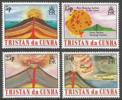 Tristan Da Cunha. 1982 Volcanos. MH Complete Set. SG 337-340 - Tristan Da Cunha