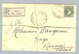 Nigeria 1939-09-19 R-Brief > Kumassi Goldküste - Nigeria (1961-...)