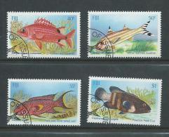 Fiji 1985 Shallow Water Fish Set 4 FU - Fiji (1970-...)