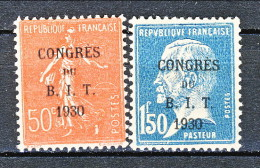 Francia 1930 Caisse D'Am. Y&T Serie N. 264 - 265 MH - Sinking Fund