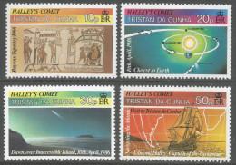 Tristan Da Cunha. 1985 Appearance Of Halley´s Comet. MH Complete Set. SG 402-405 - Tristan Da Cunha