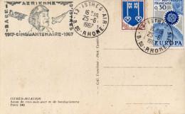 AVIATION - Tampon Base Aérienne D'Istres - Cinquantenaire - 1967 - Sur Carte Postale Istres-Aviation ( 2 Scans)  TBE - Non Classificati