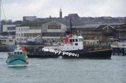 Boulogne Sur Mer - Entrée Au Port -remorqueur-boulonnais--photo - Boats