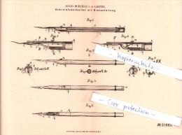 Original Patent - H. Burckas I. In Leipzig , 1882 , Schreibfederhalter Mit Dintenfüllung !!! - Schreibgerät