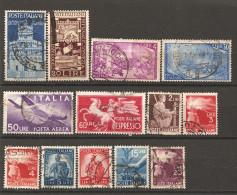 ITALIA - 1945-49  13 Francobolli Diversi, Perfetti E Con Annulli Non Deturpanti - 6. 1946-.. Repubblica