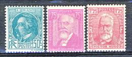 Francia 1933 Celebrità Y&T  Serie N. 291 - 293 MNH - Ungebraucht