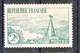 Francia 1935 Riviera Bretone Y&T  N. 301 Fr. 2 Verde MNH - Ungebraucht