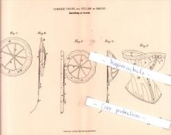 Original Patent - Therese Franz Geb. Müller In Berlin , 1882 , Einrichtung An Corsets , Corset , Korsett !!! - Historische Bekleidung & Wäsche