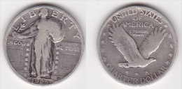 ETATS UNIS U.S.A. : QUARTER 1925 Argent (voir Scan) - 1916-1930: Standing Liberty (Libertà In Piedi)