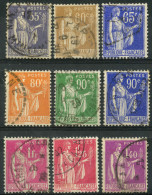 France (1937) N 363 à 371 (o) - France