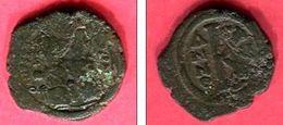 JUSTIN II  1/2  FOLLIS CONSTANTINOPLE  AN  5 D         ( S 361   )  TB 22 - Byzantines