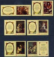 SOVIET UNION 1974 Foreign Paintings Set + Labels, MNH / **.  Michel 4301-06 - 1923-1991 USSR