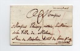 !!! MARQUE DE DISTRIBUTION E17 BUREAU DE QUARTIER E SUR LETTRE POUR MELUN (AU VERSO) - Marcophilie (Lettres)