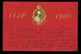1830-1900. Zum 70 Geburststage / Year 1900 / Old Postcard Circulated - Royal Families