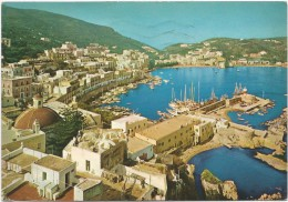 K3428 Isola Di Ponza (Latina) - Panorama Con Il Porto - Barche Boat Bateaux / Viaggiata 1982 - Italia