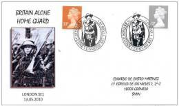 GREAT BRITAIN 2010. SPECIAL POSTMARK. BRITAIN ALONE. HOME GUARD. SECOND WORLD WAR - WW2 (II Guerra Mundial)