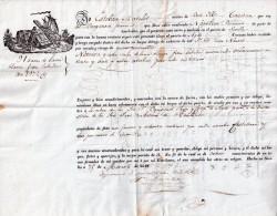 """CONNAISSEMENT MARITIME : TRANSPORT DE LAINE BLANCHE . DE """" SÉVILLE """" . POUR """" AGDE """" . 1841 . - Spain"""