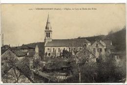 Carte Postale Ancienne Hérimoncourt - L'Eglise, La Cure Et Ecole Des Filles - Francia
