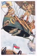 Fritz Schönpflug - Illustration Montgolfière Militaires Humour C1910 Hot-air Balloon / BKWI 368-2 - Schoenpflug, Fritz