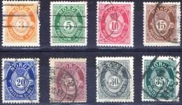 NORV-12 - NORVEGE N°48A/55A OBLITERES - Used Stamps