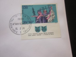 1971  TEL-AVIV  YAFO   ISRAEL FDC First Day Cover Yom A Richon 1er Jour D'émission With TABS N° 431  Y & T - Brieven En Documenten